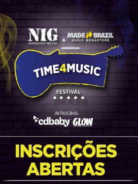 TIME4MUSIC: inscreva sua banda no festival e concorra a prêmios