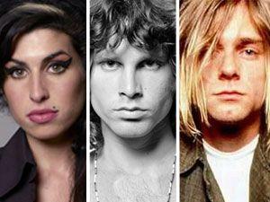 Amy Winehouse, Jim Morrison e Kurt Cobain morreram aos 27 anos