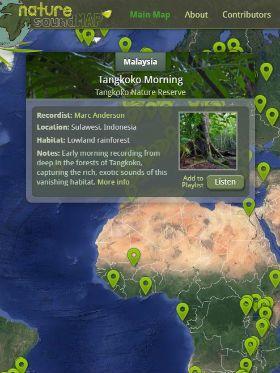 Navegue pelo incrível mapa que reúne sons da natureza do mundo inteiro