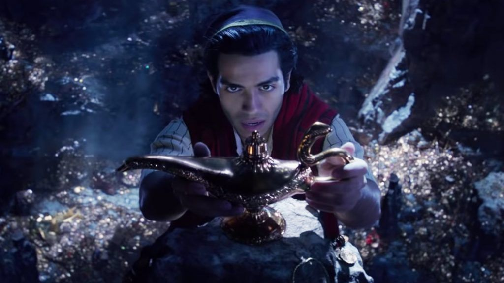 Cena do trailer oficial de Aladdin.