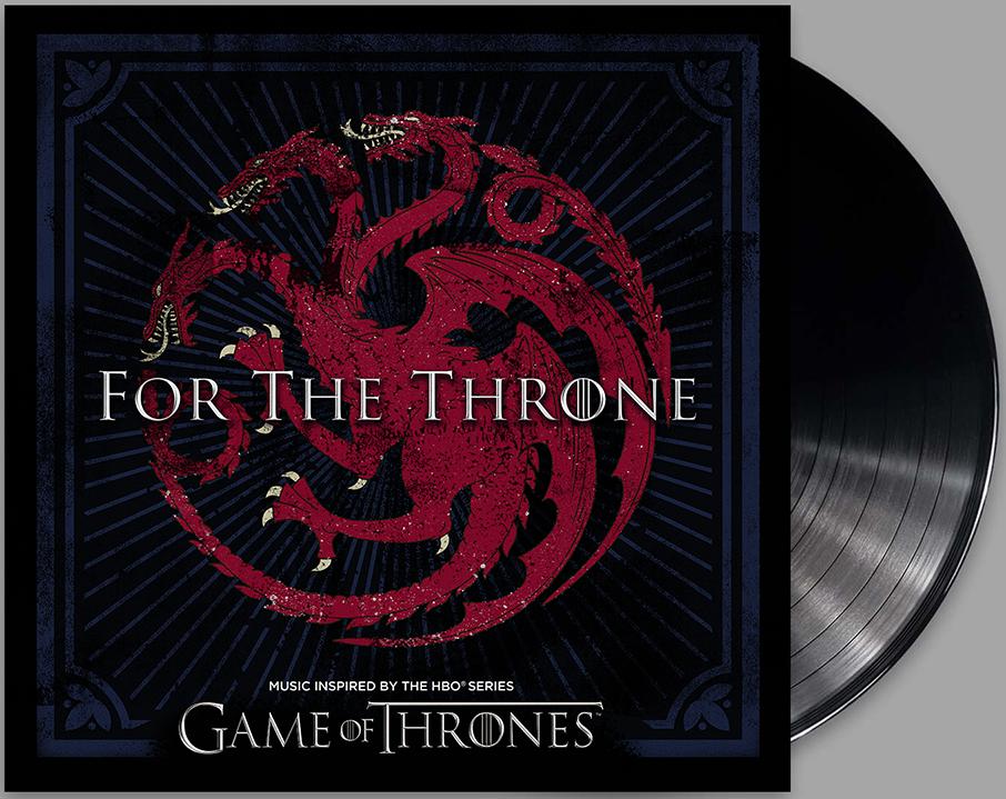 """Capa de uma das edições especiais do álbum """"For The Throne"""" de Game Of Thrones."""