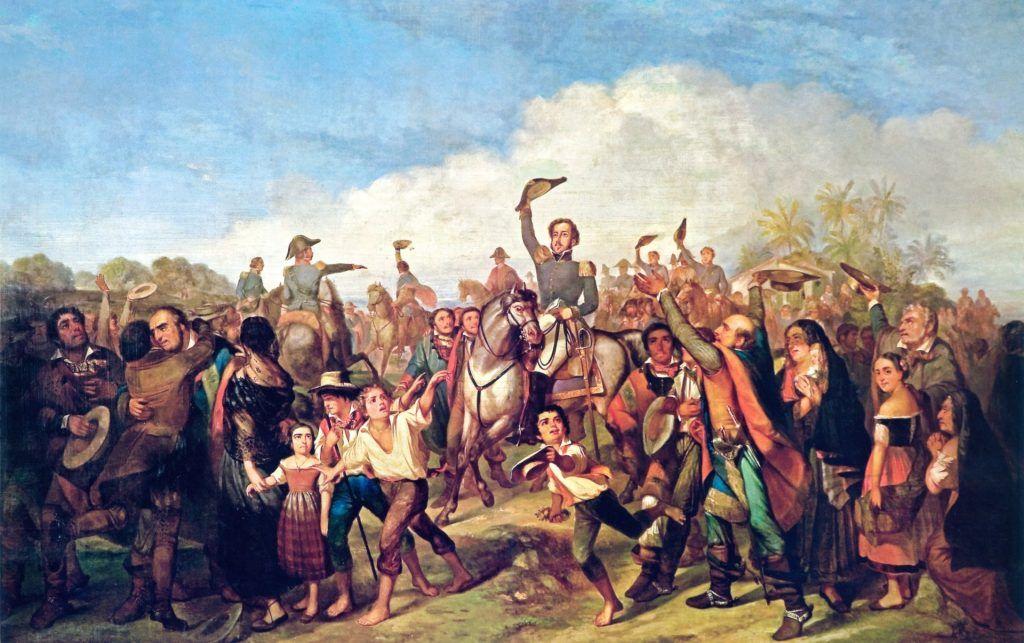 A Proclamação da Independência, de François-René Moreaux, 1844