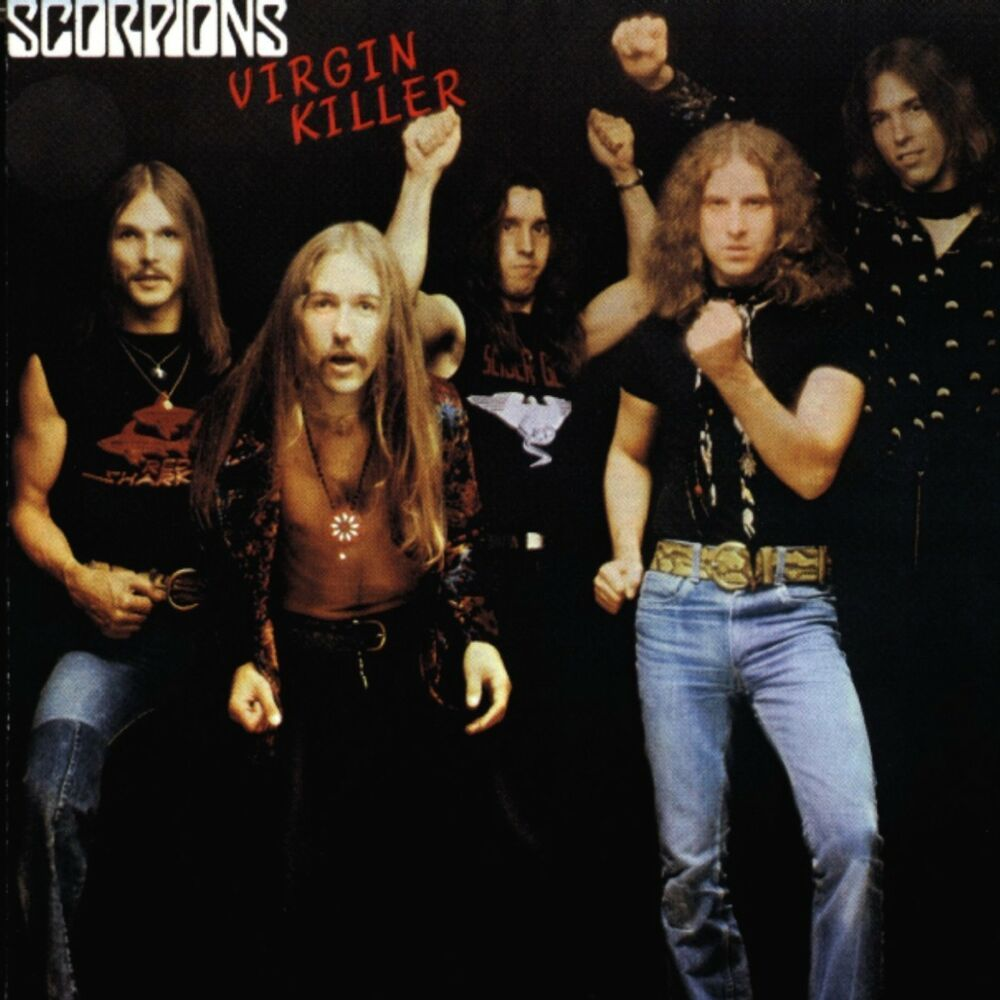 Capa do álbum Virgin Killer, da banda Scorpions