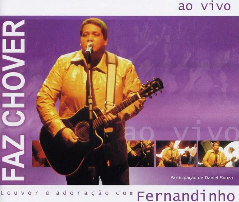 Capa do álbum Faz Chover, do cantor gospel Fernandinho
