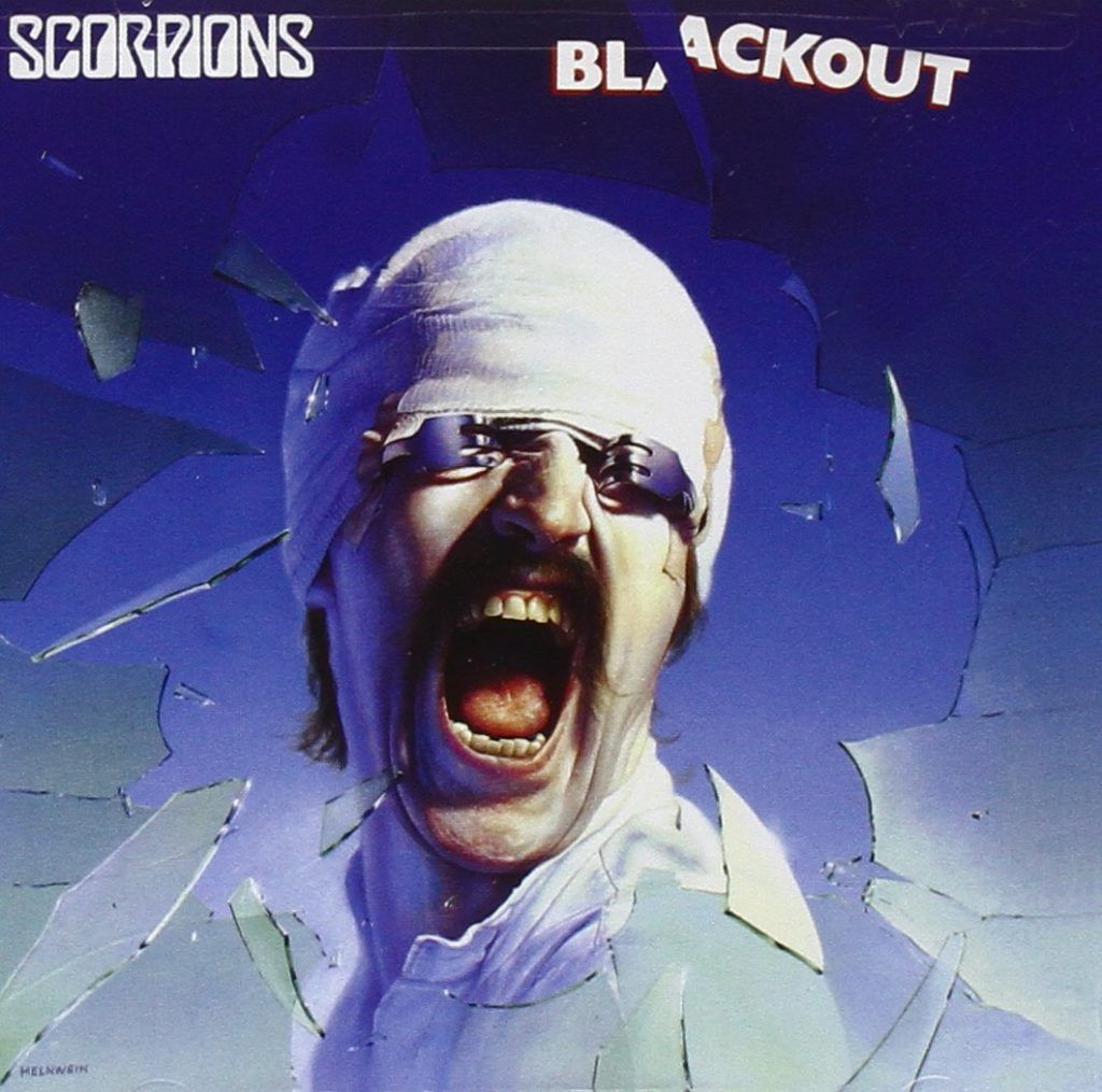 Capa do álbum Blackout, da banda Scorpions