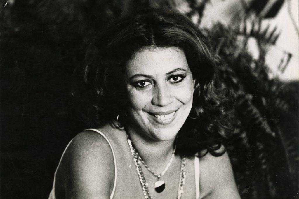 Cantora Beth Carvalho quando era jovem