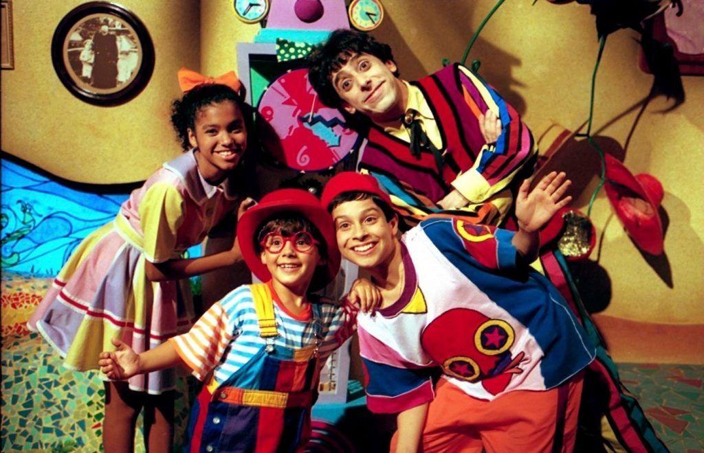 Biba, Nino , Zequinha e Pedro, personagens do Castelo Rá-Tim-Bum