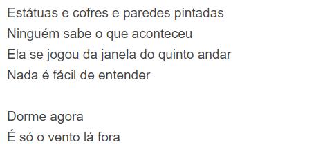 """Letra da música """"Pais e Filhos"""""""