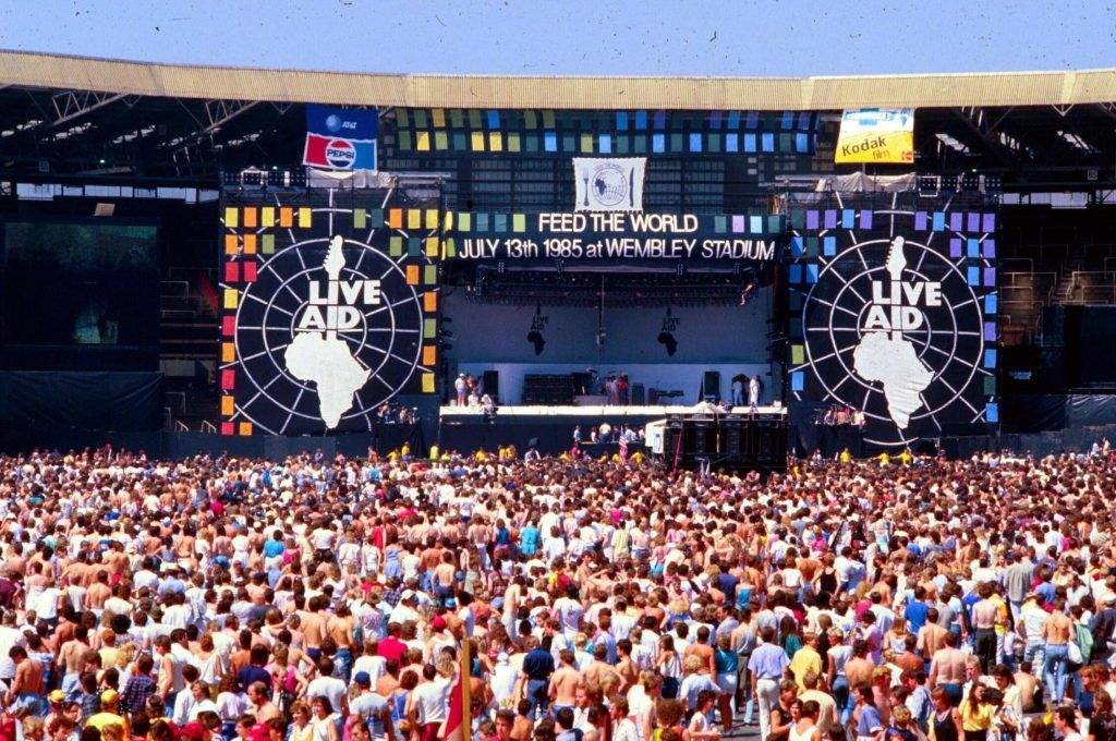 Live Aid, festival que deu origem ao dia do rock