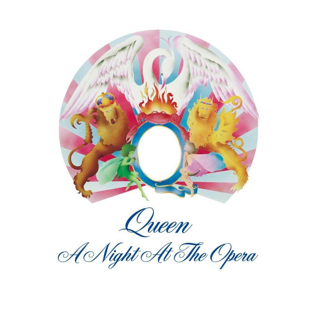 Capa do álbum A Night At The Opera, do Queen