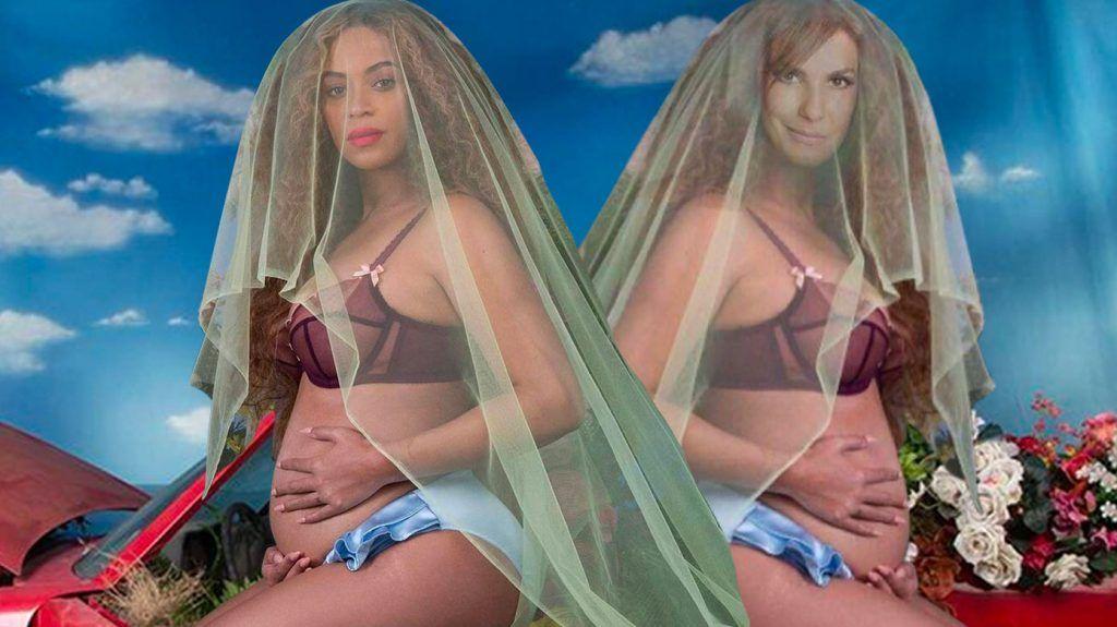 Beyoncé e Ivete grávidas de gêmeos