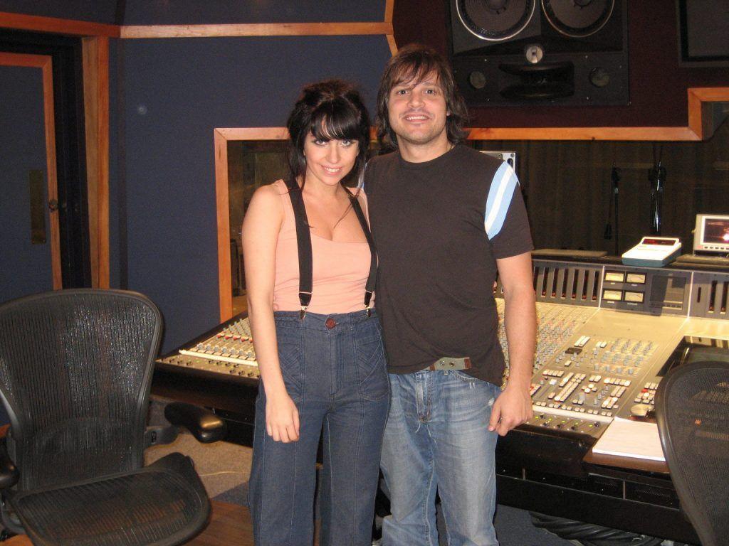 Lady Gaga e o produtor Rob Fusari