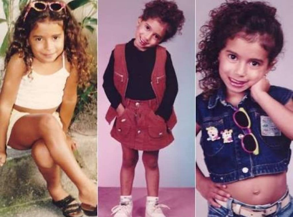 Anitta quando era criança