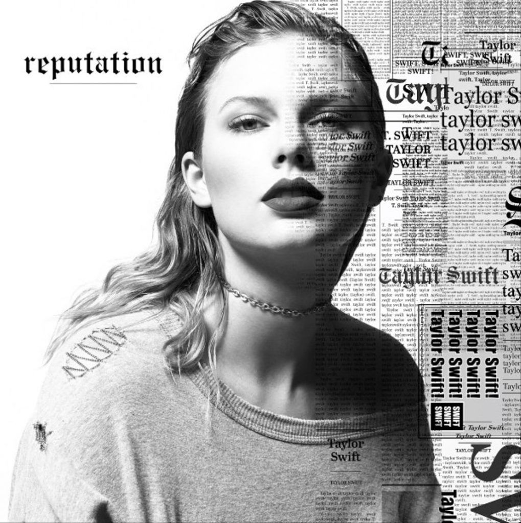 Capa do álbum Reputation, de Taylor Swift