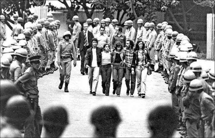 Manifestação estudantil durante a ditadura militar