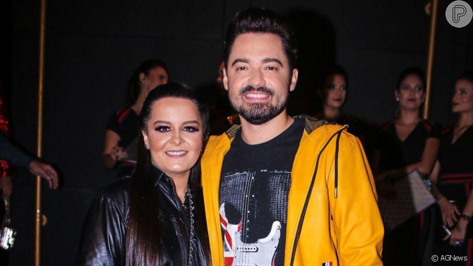Maiara e o namorado Fernando Zor