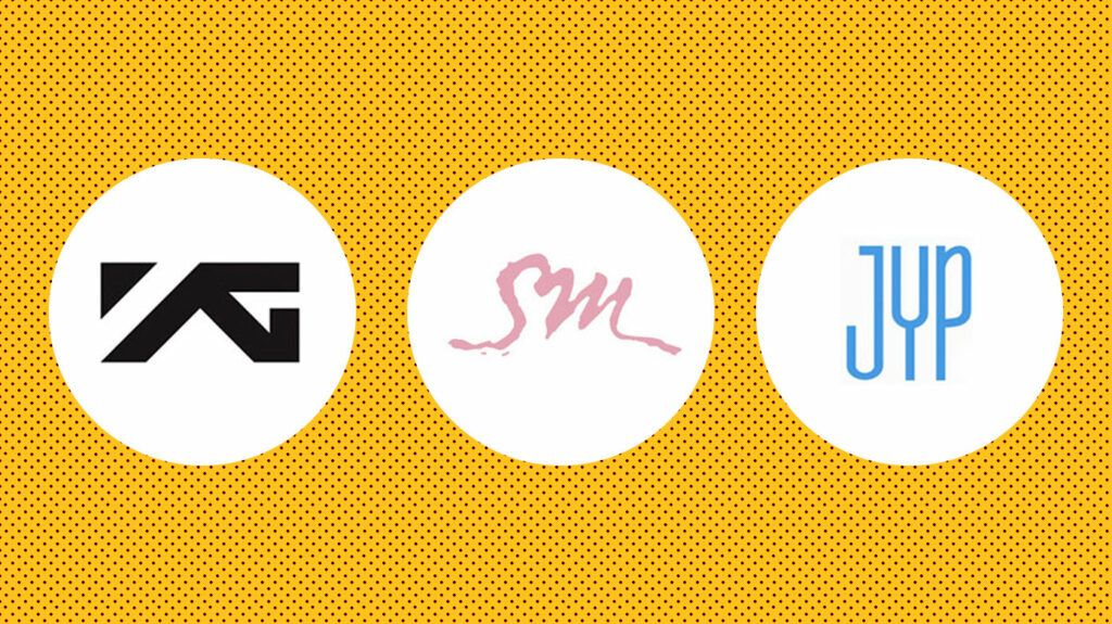 Big 3 agências de k-pop