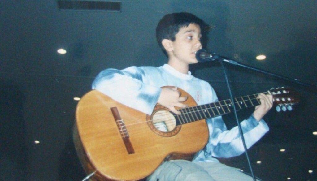 Luan Santana quando criança