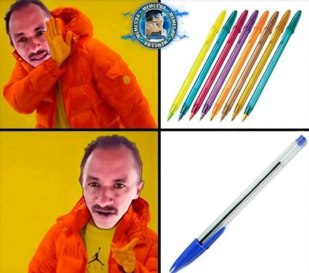 Meme da Caneta Azul