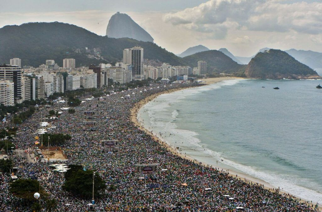 Show do Rod Stewart em Copacabana no ano de 1994