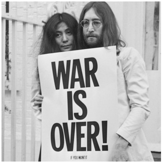 John Lennon e Yoko Ono, War is over