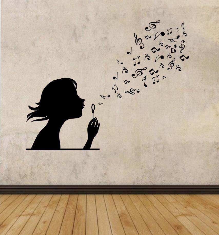 Decoração musical na parede