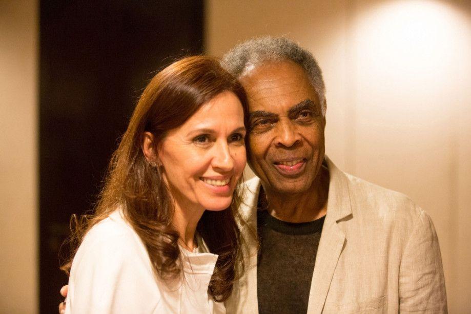 Gilberto Gil e a esposa Flora