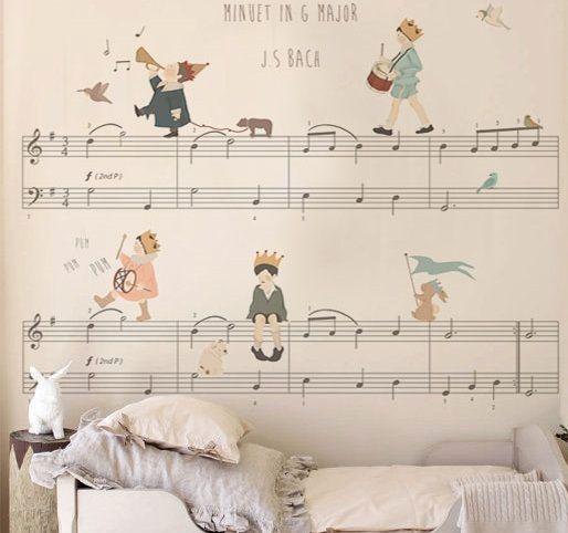 Decoração musical infantil