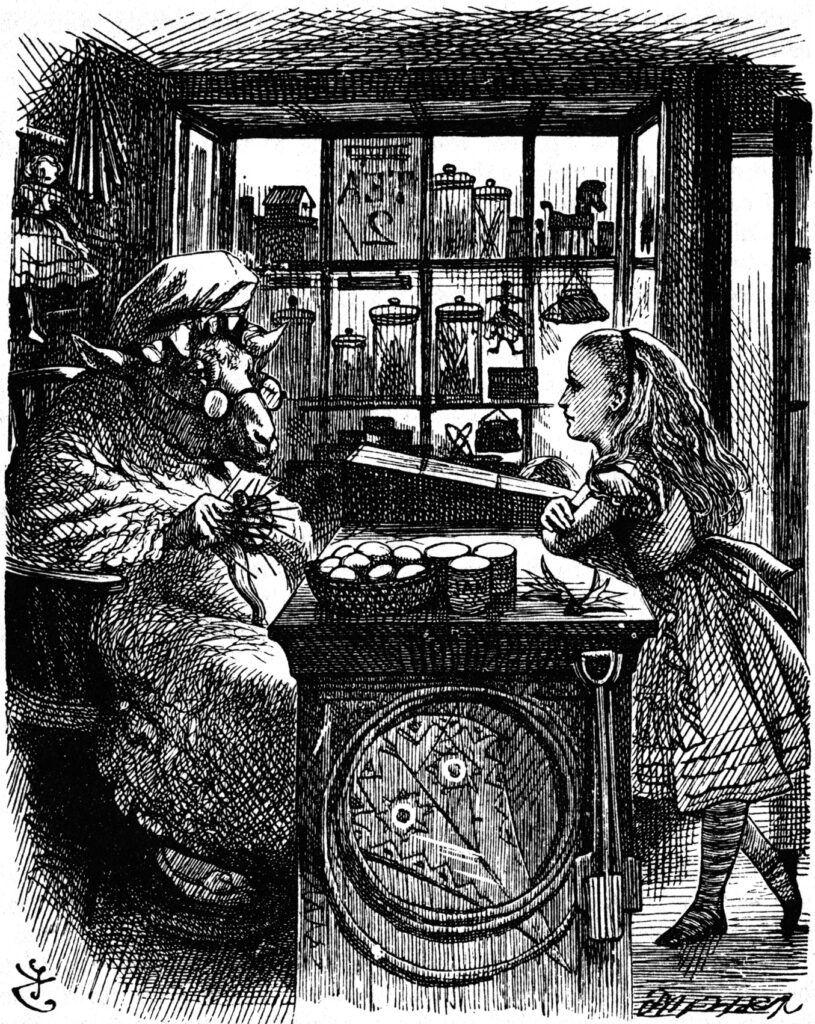 Ilustração do livro Alice No País Das Maravilhas, feita por John Tenniel.