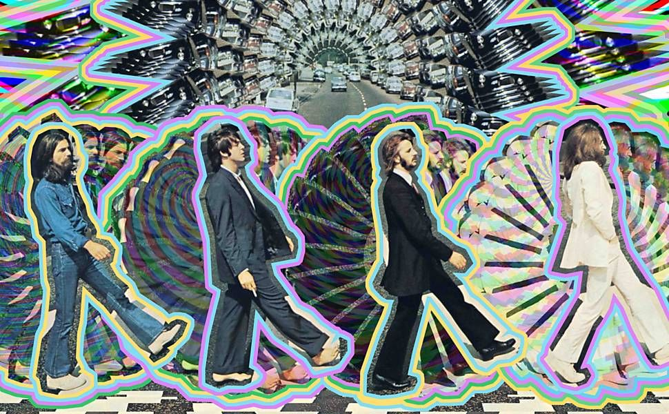 Releitura da capa do álbum Abbey Road, feita por José Irion Neto
