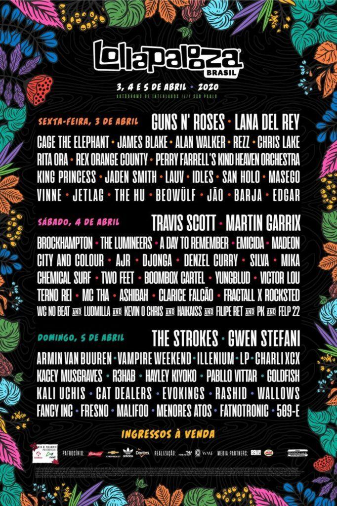 Line up Lollapalooza 2020