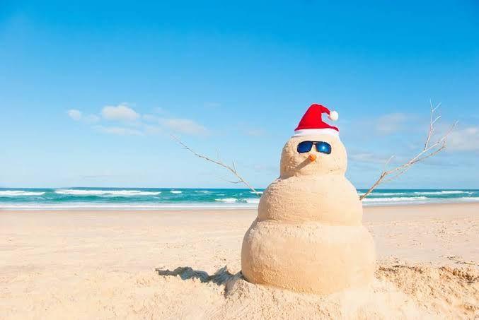 Boneco de areia natalino