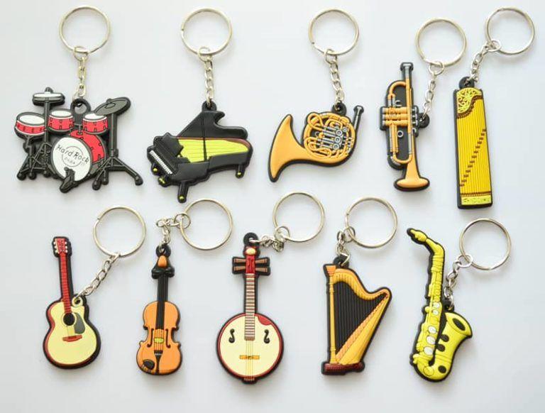 chaveiros instrumentos musicais