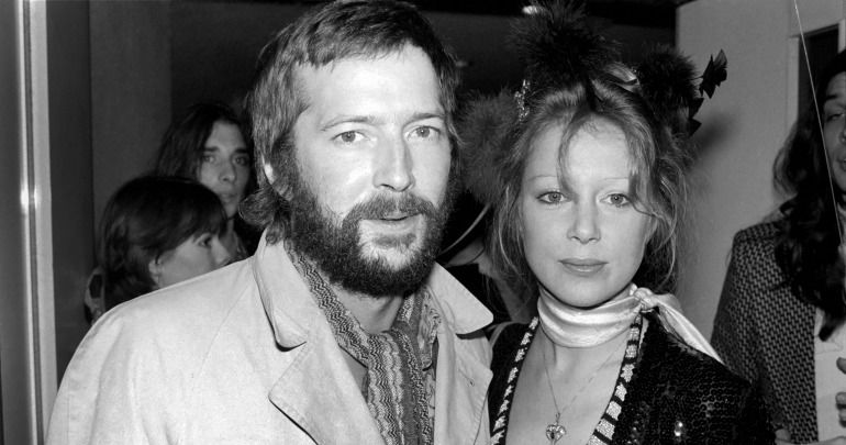 Eric Clapton e a ex-esposa Pattie Boyd
