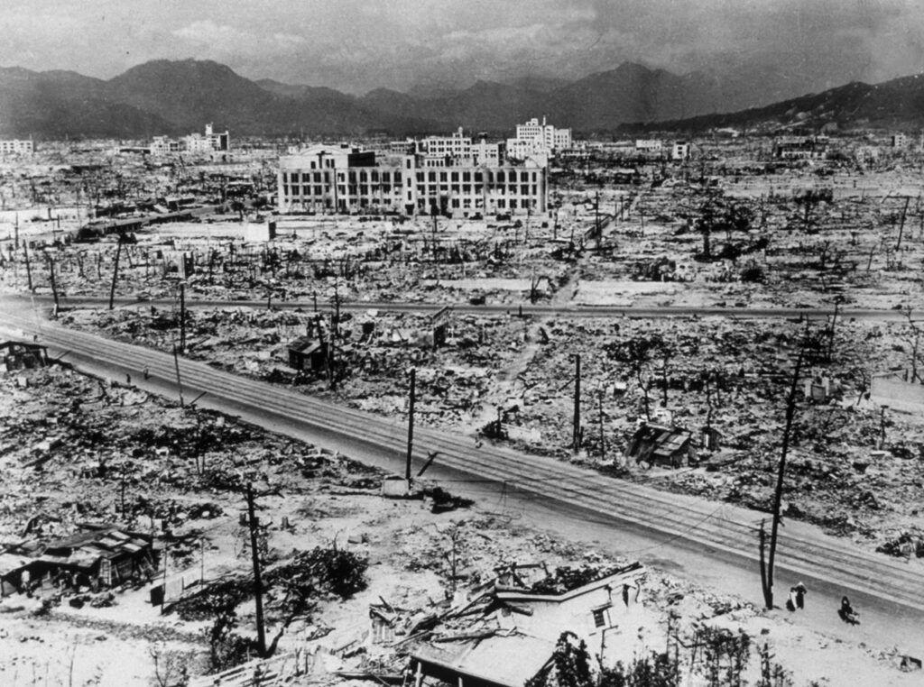 Hiroshima após o ataque atômico