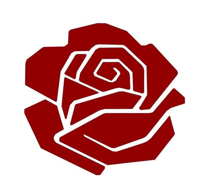 Rosa vermalha simbolo do comunismo