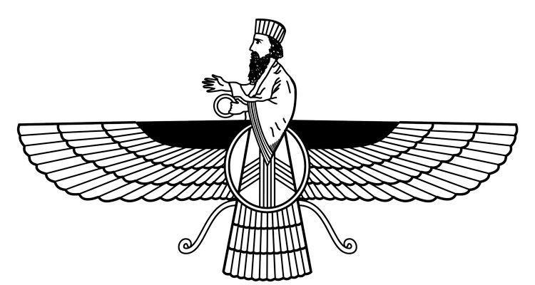 Faravahar, símbolo do zoroastrismo
