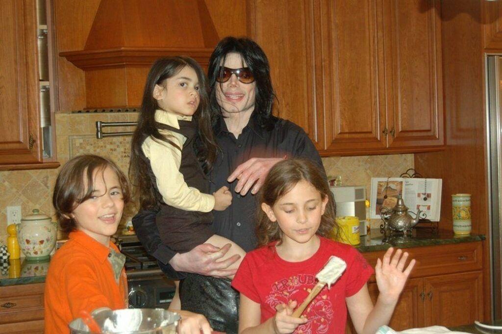 Michael Jackson e filhos