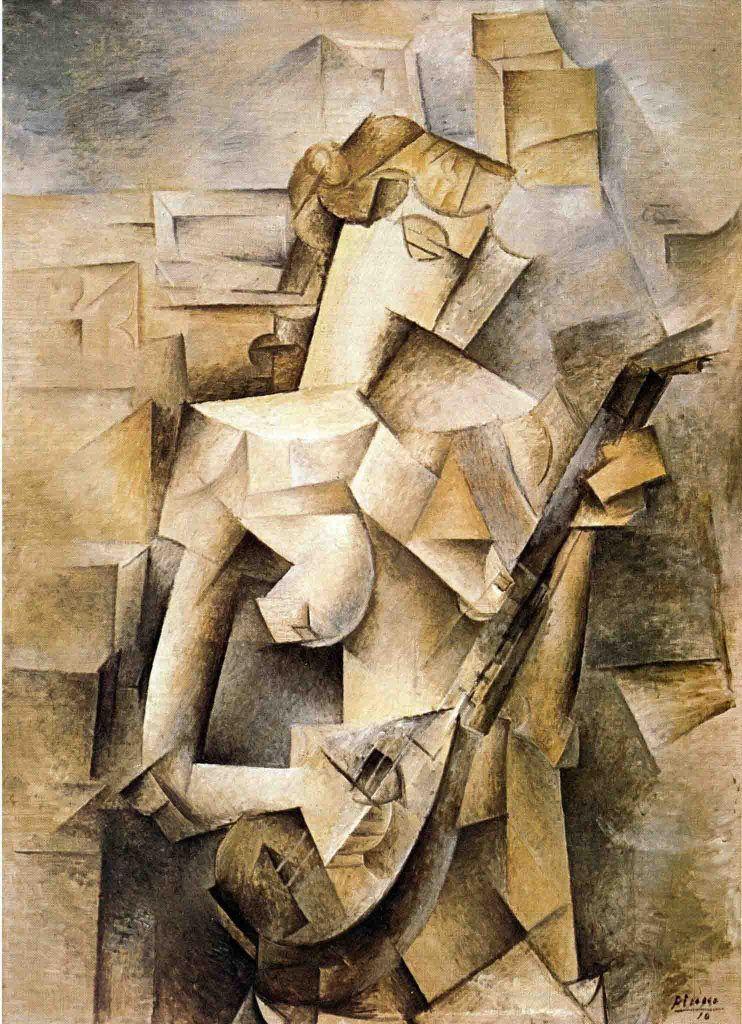 Menina Com Bandolim, pintura cubista de Picasso