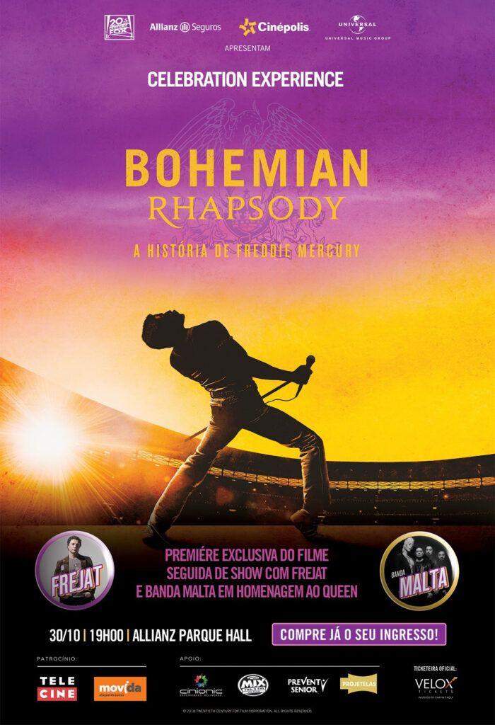 capa do filme Bohemian Rhapsody