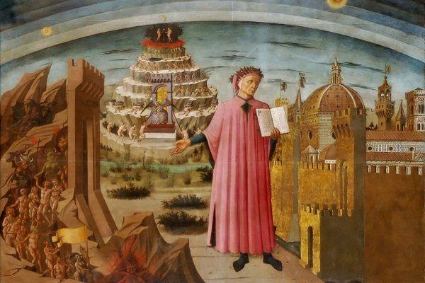 Pintura de Dante como personagem do livro A Divina Comédia