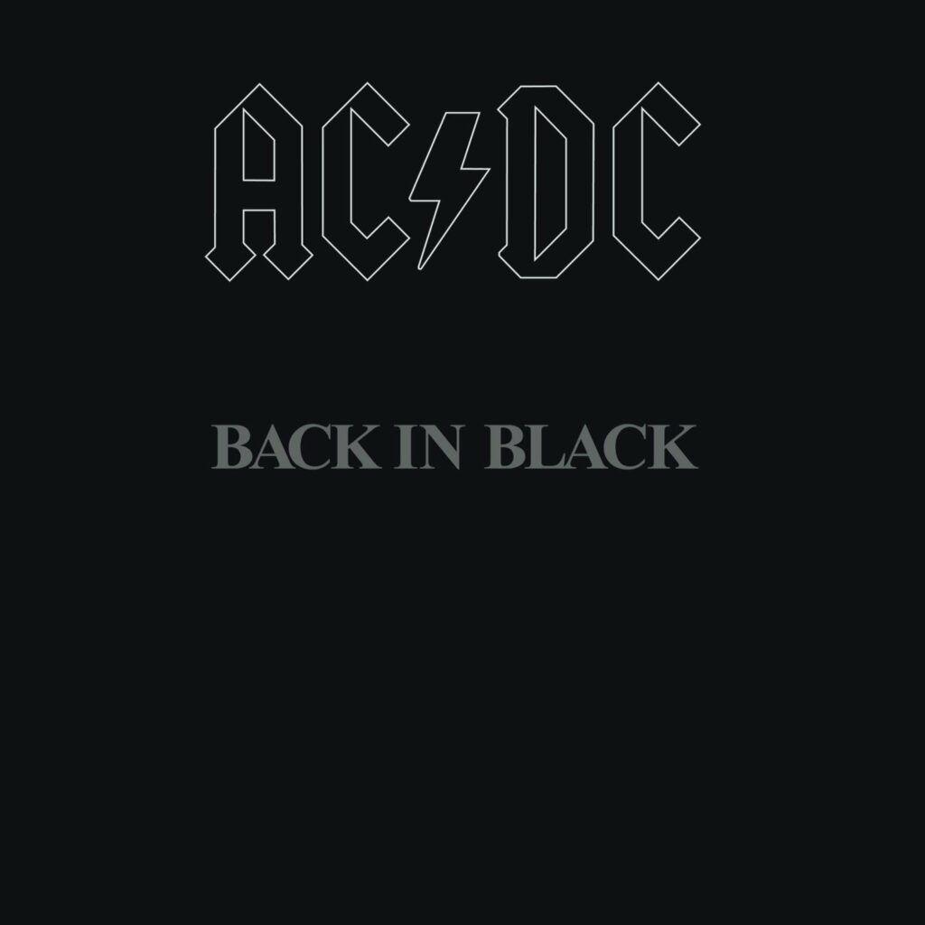 Capa do álbum Back In Black, do AC/DC