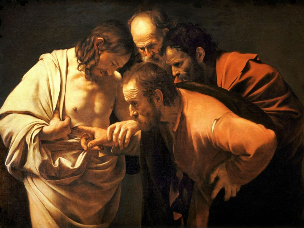 A dúvida de Tomé, pintura de Caravaggio