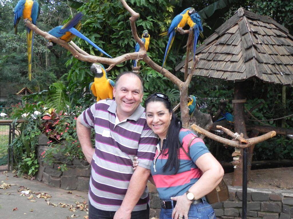 Mara Lima e o esposo Gessé Lima