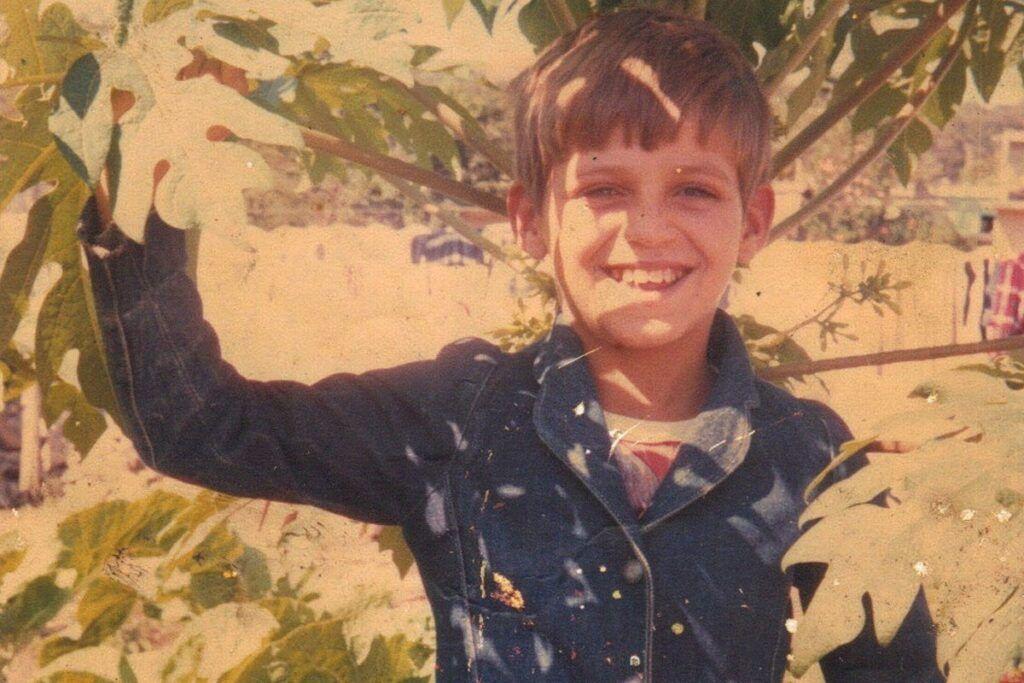 Eduardo Costa quando criança