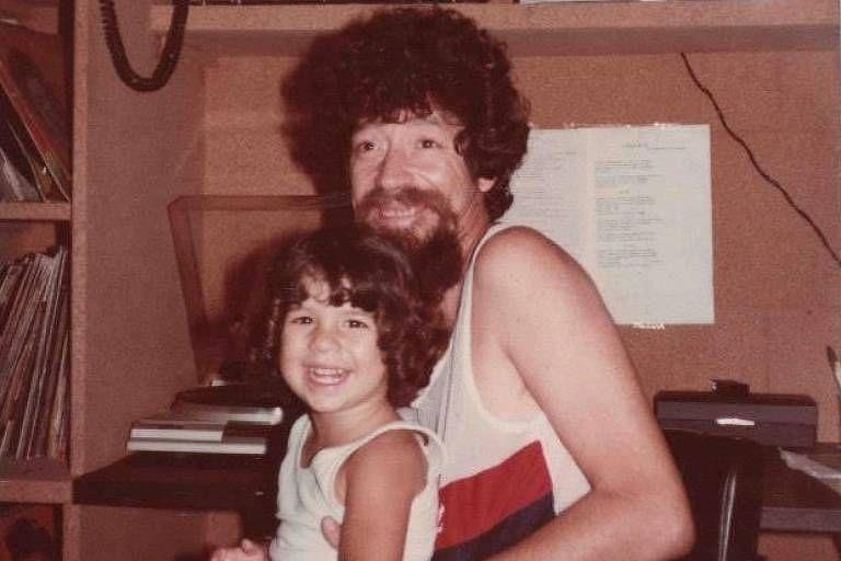 Raul Seixas com a filha Vivi Seixas