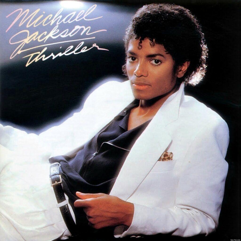 Capa do álbum Thriller, de Michael Jackson