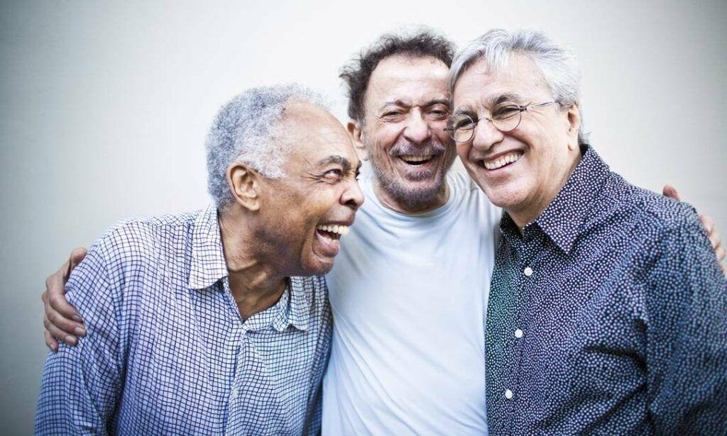 Gilberto Gil, Tom Zé e Caetano Veloso