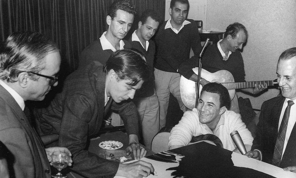 Vinicius de Moraes, Tom Jobim e João Gilberto