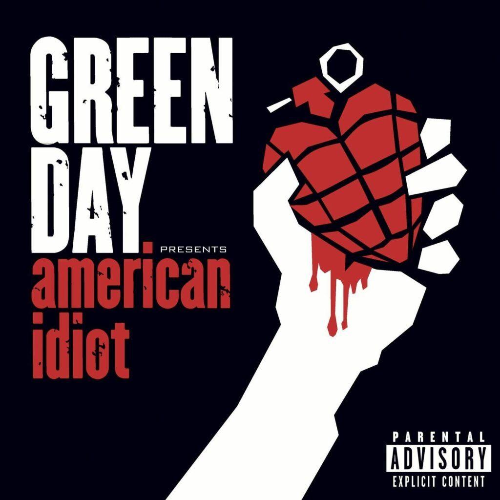 Capa do álbum American Idiot, do Green Day